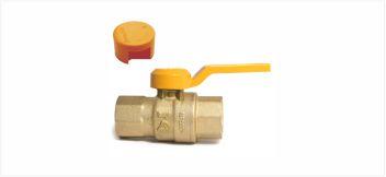 Q189A带锁燃气足经黄铜球阀(N4)